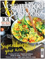 Vegan Food & Living Cookbook Magazine Cover