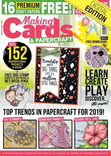 Making Cards Papercraft Magazine January 2019 Subscriptions