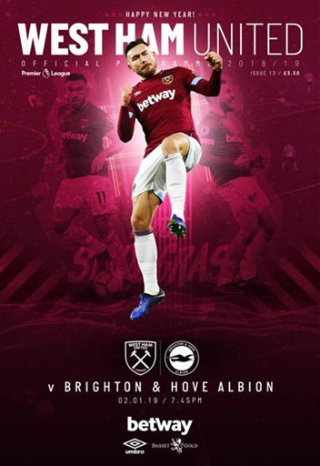 Newcastle United V Brighton And Hove Albion 2018//19 Match Day Programme.