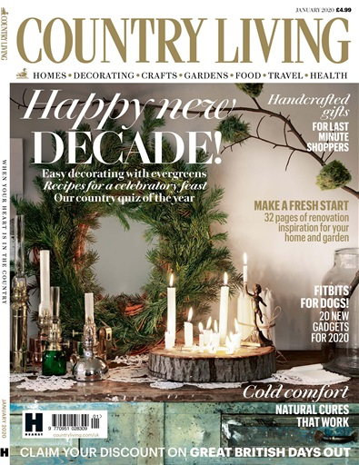 Country Living Magazine Jan 2020 Subscriptions Pocketmags