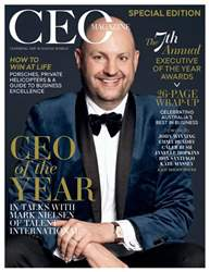 The CEO Magazine ANZ Magazine Cover