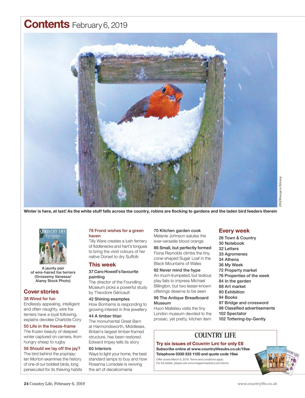 Country Life Magazine 6th February 2019 Subscriptions Pocketmags
