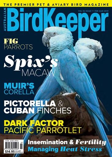 Australian Birdkeeper Magazine Bk Vol 32 Issue 7 Subscriptions