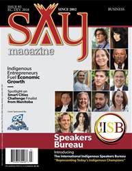 Say Magazine - The Largest Indigenous Magazine Magazine Cover