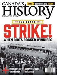 Canada's History Magazine Cover
