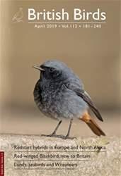 British Birds Magazine Cover