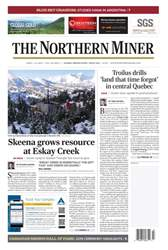 The Northern Miner Magazine Cover