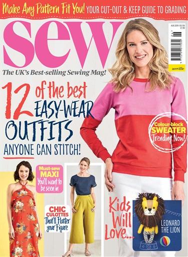 c5e9854809 Sew Magazine - Aug 2019 Subscriptions | Pocketmags