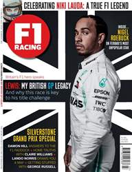 F1 Racing Magazine Cover