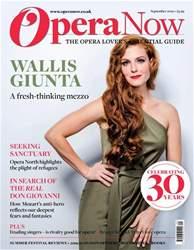 Opera Now Magazine Cover