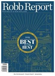 Robb Report Australia & New Zealand Magazine Cover