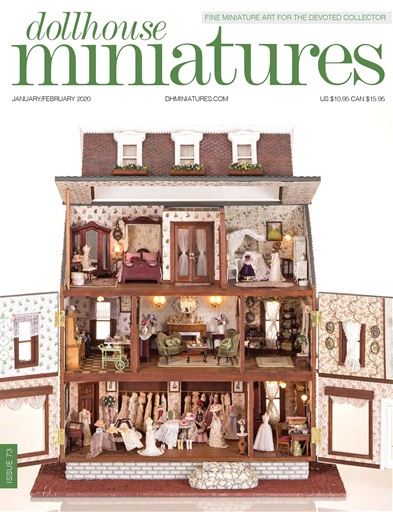 Handmade 1:12th Scale Miniature Dolls House Christmas Radio Times TV magazine