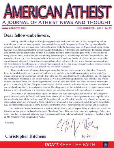American Atheist Preview