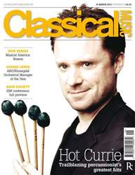 Classical Music Magazine Cover