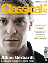 Classical Music 07 April 2012 issue Classical Music 07 April 2012