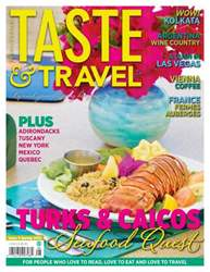 Taste & Travel International Magazine Cover