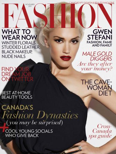 Fashion Magazine - November 2011 Subscriptions