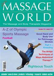 Massage World Dec-Jan 2012 issue Massage World Dec-Jan 2012
