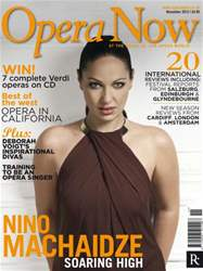Opera Now Magazine Cover