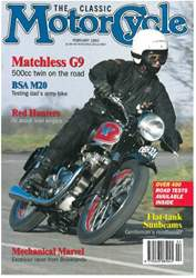 The Classic MotorCycle Magazine Cover