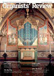Organists' Review Magazine Cover