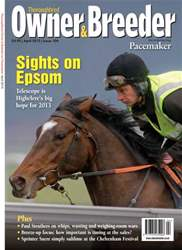 Thoroughbred Owner and Breeder Magazine Cover