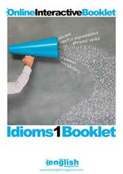 Idioms Booklet 1 issue Idioms Booklet 1