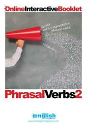 Phrasal Verbs Booklet 2 issue Phrasal Verbs Booklet 2