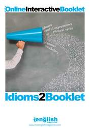 Idioms Booklet 2 issue Idioms Booklet 2