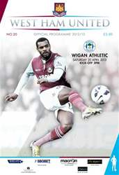 WEST HAM UNITED V WIGAN ATHLETIC issue WEST HAM UNITED V WIGAN ATHLETIC