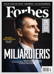 Forbes Latvia Magazine Cover