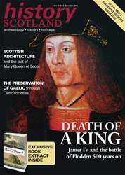 History Scotland Sept-Oct 2013 issue History Scotland Sept-Oct 2013