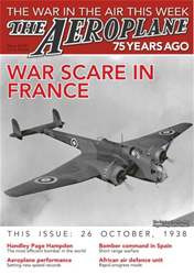 Aeroplane Weekly - The War in the Air 75 years ago Magazine Cover