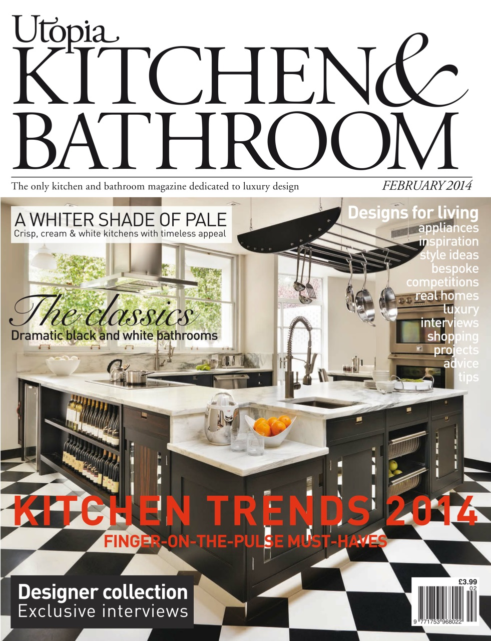 Moving From The Kitchen Into Bathroom Clics On Page 78 Looks At New Creative Ways Black And White Work Their Magic In