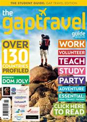The Gap Travel Guide 2014 issue The Gap Travel Guide 2014