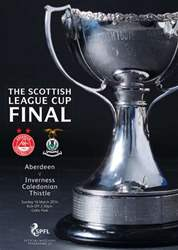 Scottish League Cup Magazine Cover
