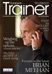 European Trainer Magazine - horse racing Magazine Cover