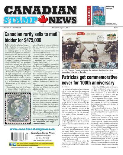 Canadian Stamp News Preview