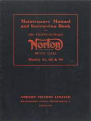 1957 Norton Models 88 and 99 Maintenance and Instruction Manual issue 1957 Norton Models 88 and 99 Maintenance and Instruction Manual