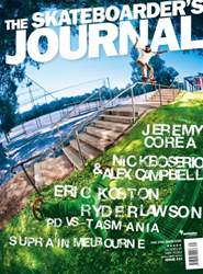 Skateboarder's Journal Australia Magazine Cover