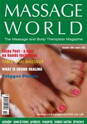 Massage World Dec–Jan 2009 issue Massage World Dec–Jan 2009