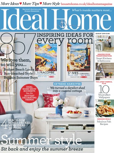 Ideal Home Magazine August 2014 Subscriptions Pocketmags