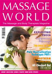 Massage World Jun-Jul 2008 issue Massage World Jun-Jul 2008