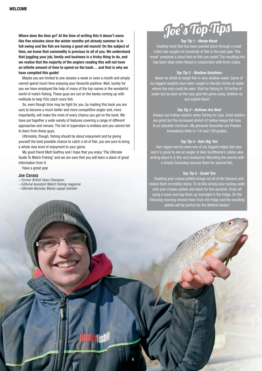 Pole fishing magazine the ultimate guide to match for Ultimate match fishing