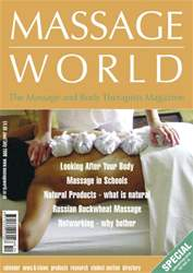 Massage World Jun-Jul 2006 issue Massage World Jun-Jul 2006