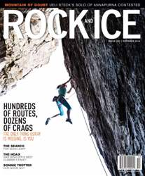 Rock and Ice Magazine Cover