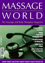 Massage World Nov 2003 issue Massage World Nov 2003