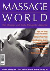 Massage World Jul–Aug 2003 issue Massage World Jul–Aug 2003