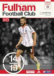Fulham V Cardiff City 2014/15 issue Fulham V Cardiff City 2014/15