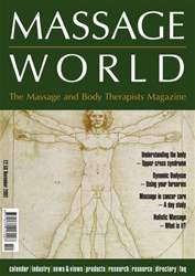 Massage World Nov 2002 issue Massage World Nov 2002